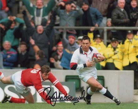 Rory Underwood, Leicester Tigers & England, signed 10x8 inch photo.